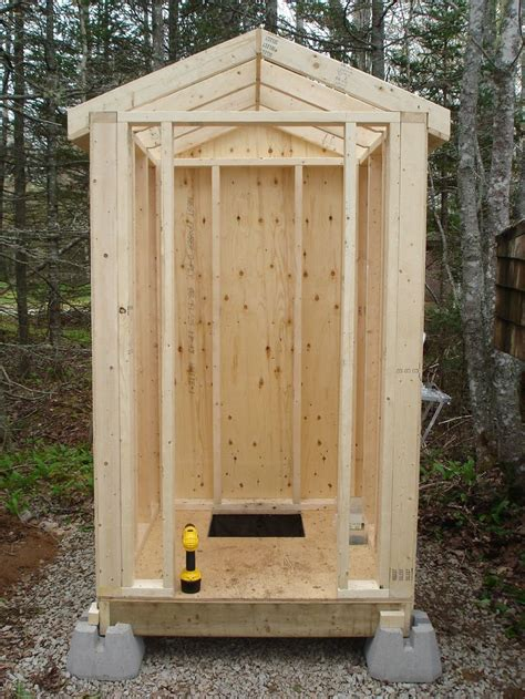 Building Plans Outdoor Outhouse With Toilet