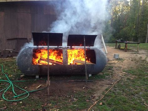Building Smoker Out Propane Tank