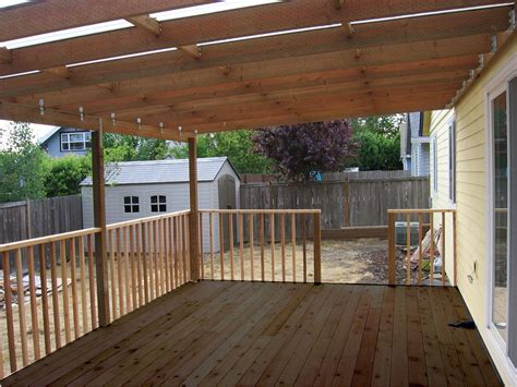 Building Wood Awning Over Deck