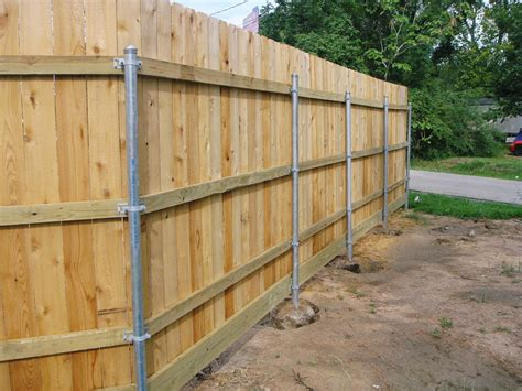 Building Wooden Fence With Metal Posts