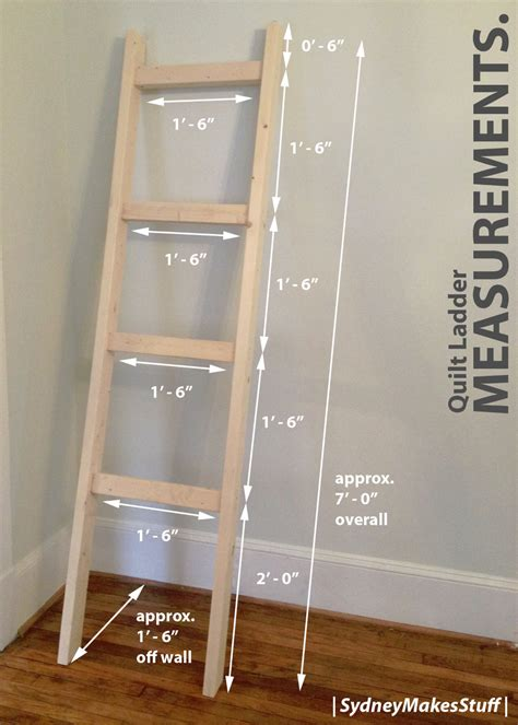 Building-Plans-For-A-Quilt-Ladder