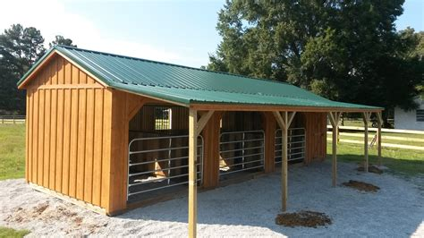 Building-Plans-For-Horse-Run-In-Shed