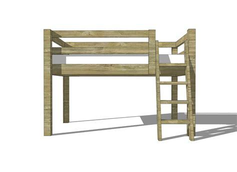 Building-Plans-For-Low-Loft-Bed