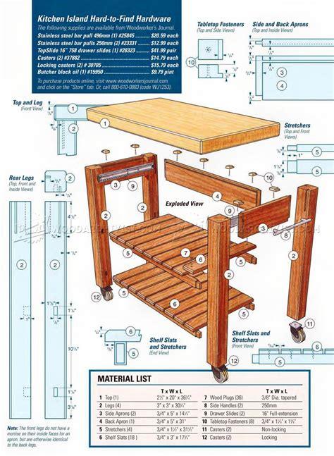Building-Plans-Portable-Kitchen-Island