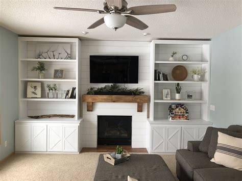 Built In Bookcase Plans Around Fireplace