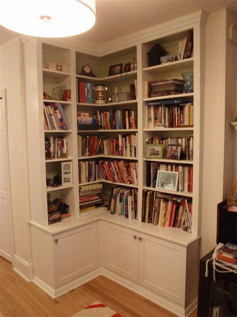 Built In Corner Bookshelf Plans
