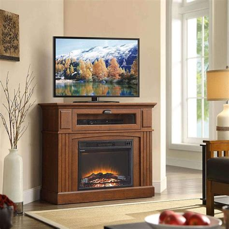Built In Corner Fireplace Tv Stand