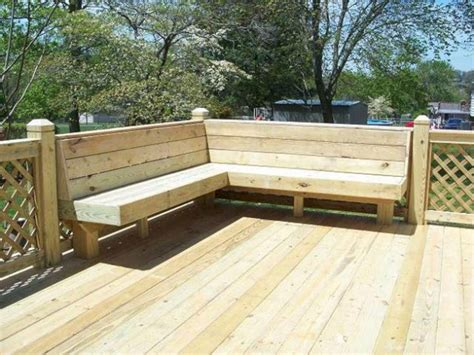 Built In Deck Seating Plans