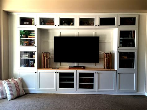 Built In Media Wall Cabinet Plans