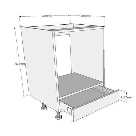 Built In Oven Cabinet Dimensions