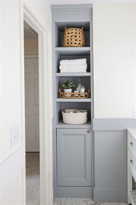 Built-In-Bathroom-Shelves-Diy
