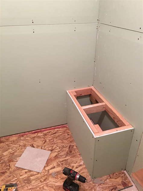 Built-In-Shower-Bench-Diy