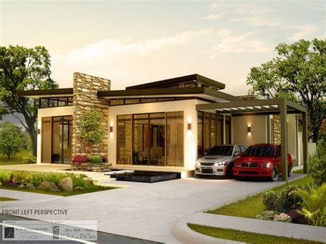 Bungalow House Design With Garage Philippines