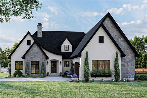 Bungalow House Plans With Rear Garage French