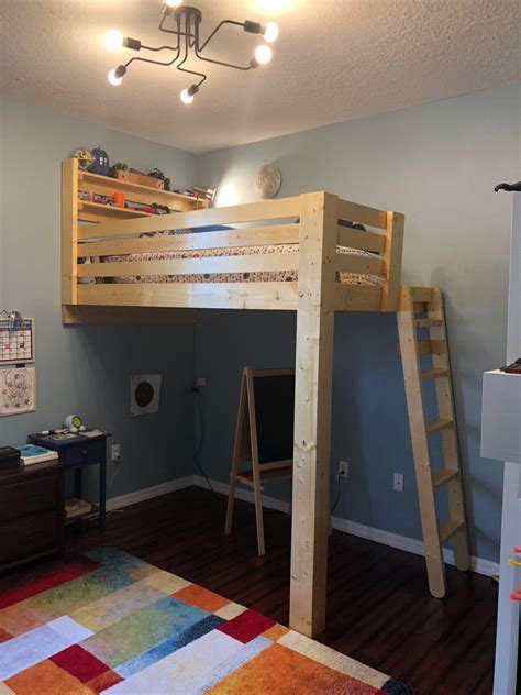 Bunk Bed Attached To Wall DIY