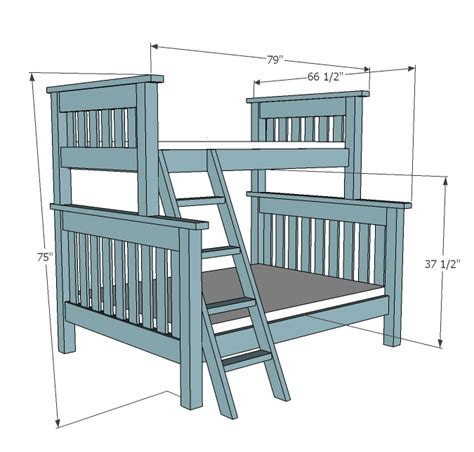 Bunk-Bed-Plans-With-Dimensions