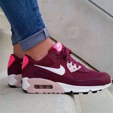 Burgundy Nike Womens Sneakers