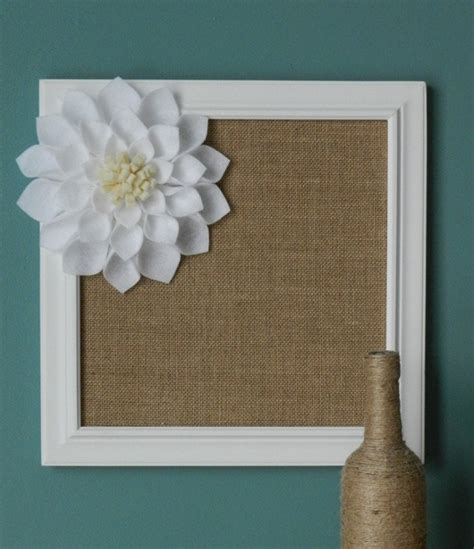 Burlap Framed Board