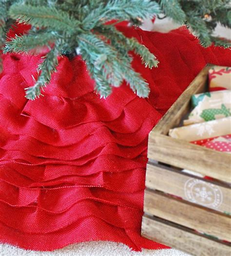 Burlap Table Skirt Diy Christmas
