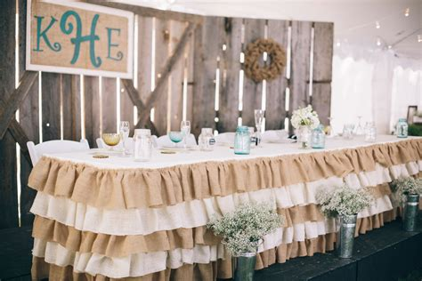 Burlap Table Skirt Diy Projects