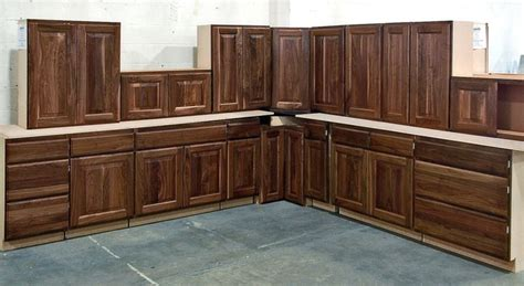 Burnished Walnut Stained Cabinets