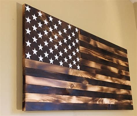 Burnt Wood American Flag Diy Craft