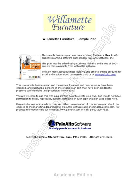Business Plan For Furniture Showroom