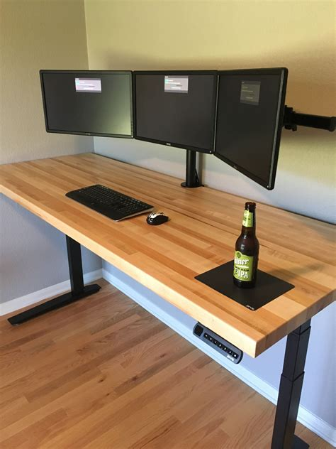 Butcher-Block-Computer-Desk-Diy