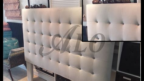 Buttonless Tufted Headboard DIY