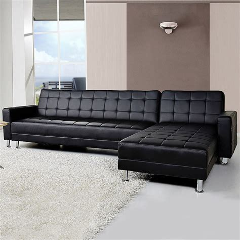 Buy Leather Chaise Sofa Bed