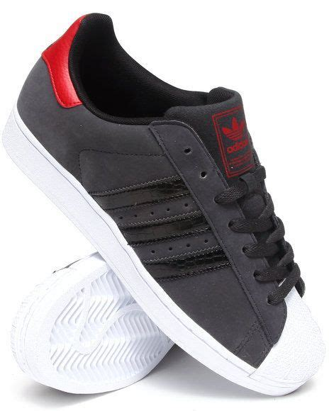 Buy Mens Adidas Charcoal Superstar 2 Sneakers