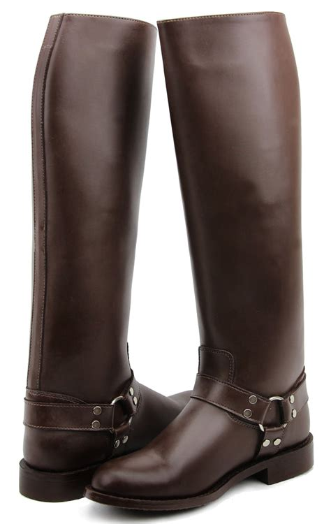 CASPER Harness Men's Man Motorcycle Police Leather Fashion Stylish Tall Riding Boots