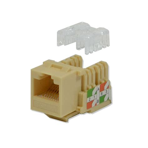 CAT5E 50 PACK LOT 110 PUNCH DOWN 8P8C LVORY KEYSTONE JACK ETHERNET NETWORK RJ45