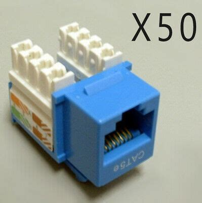 CAT5E 50 PACK LOT 110 PUNCH DOWN 8P8C RED KEYSTONE JACK ETHERNET NETWORK RJ45