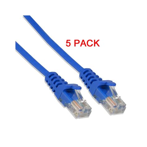 CAT6 24 Gauge Blue 15' Feet 550Mhz UTP Patch Ethernet Network Cable Wire (10/pk)