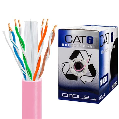 CAT6 BULK 23AWG ETHERNET LAN NETWORK CABLE - 1000 Feet White