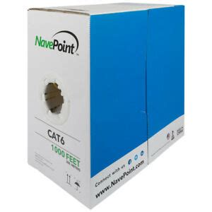 CAT6 UTP 23AWG 1000FT NETWORK CABLE YELLOW 550MHZ BULK SOLID COPPER ETHERNET WIRE LAN GIGABITE