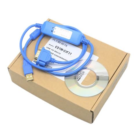 CS1W-CIF31 Programming Cable Gilded RS232 Conversion for omron PLC WIN7 XP blue