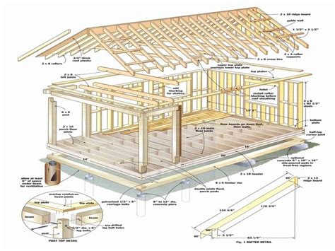 Cabin Plans With Loft 16 X 28