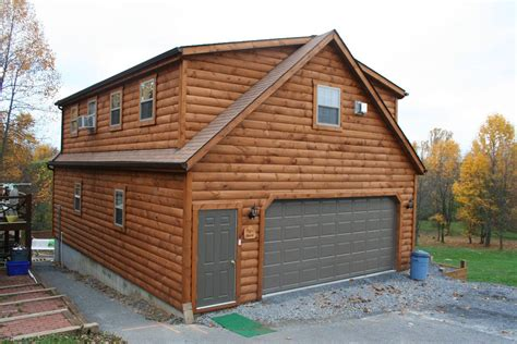 Cabin With Garage Plans