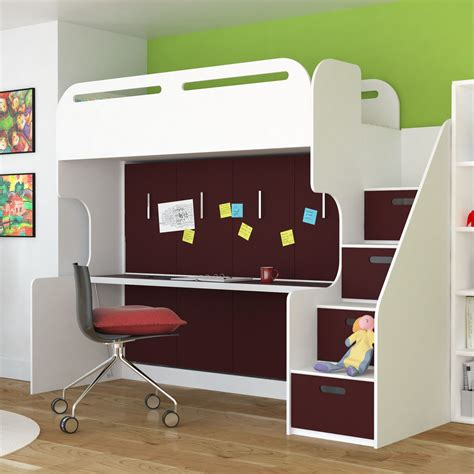 Cabin-Bed-With-Desk-Plans-Free