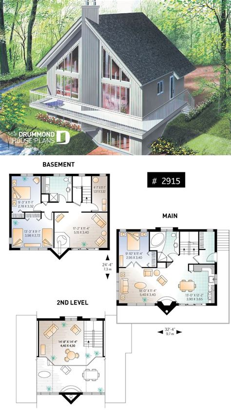 Cabin-Plans-With-Loft-And-Fireplace