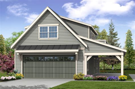 Cabin-Plans-With-Loft-And-Garage