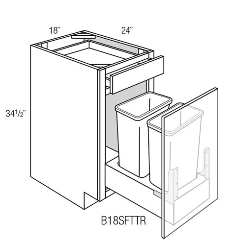 Cabinet Dimensions For Trash Can