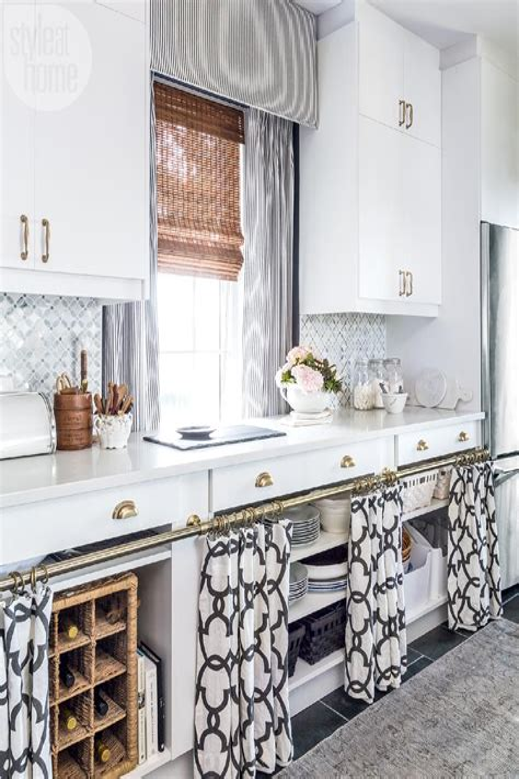 Cabinet-Curtains-Diy
