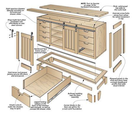 Cabinet-With-Barn-Door-Plans