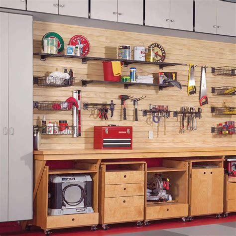 Cabinets for garage workshops Image