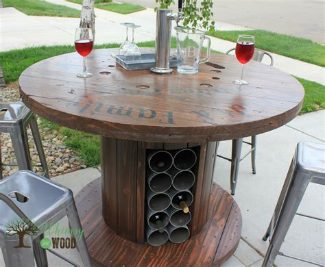 Cable Reel Table Diy With Shelf