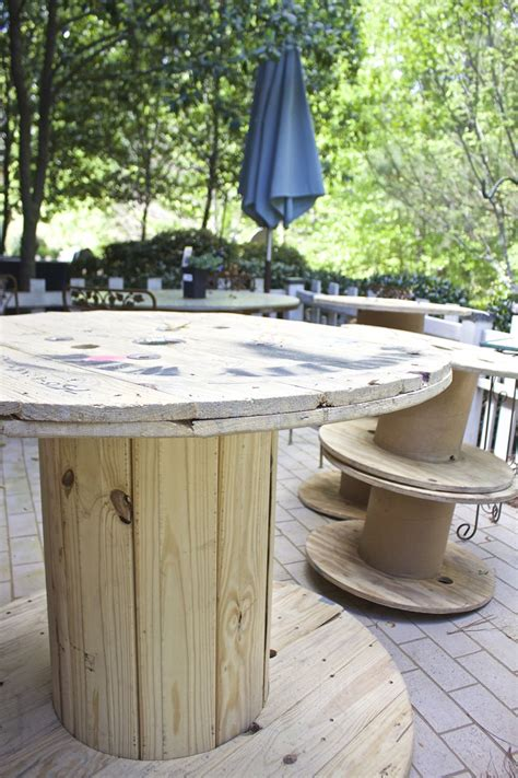 Cable Spool Table Diy Underneath