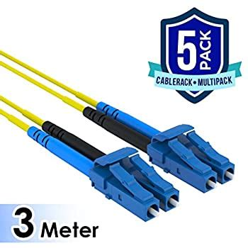 CableRack 10m SC/SC Duplex 9/125 Singlemode Fiber Patch Cable Red